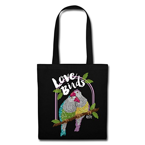 Tote Bag Planet Black Animal Parrots Lovebirds Spreadshirt aIgqw