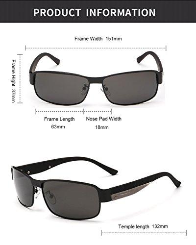 vendimia oscuras retrasas Gafas deportes de de Gafas los los de sol de negras para Gafas Negro rotas diseño del Eyewear Marco años Driving polarizadas cuadradas sol 80 la THawUxAq