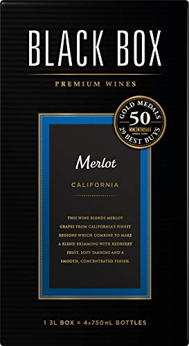 Merlot Red Wine - Black Box Merlot Red Wine, 3 L box