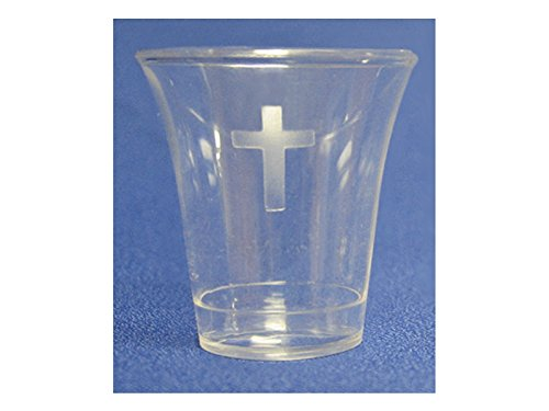 Clear Communion Cup w/Cross 500CT