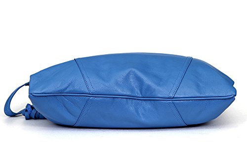 Sacchetto a mani Pelle Lusso seta, colore: Blu royal