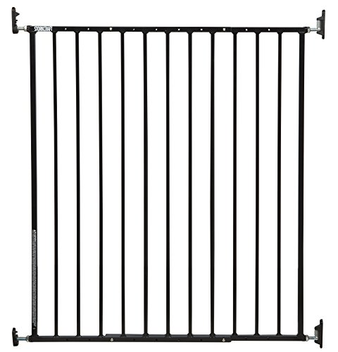 Storkcraft Easy Walk-Thru Tall Metal Safety Gate (White, Black, Gray) - 33.75 Inches Tall, Easy to Install, Pet-Friendly, Durable Metal Hardware, Ideal for Taller Children and Larger Pets -