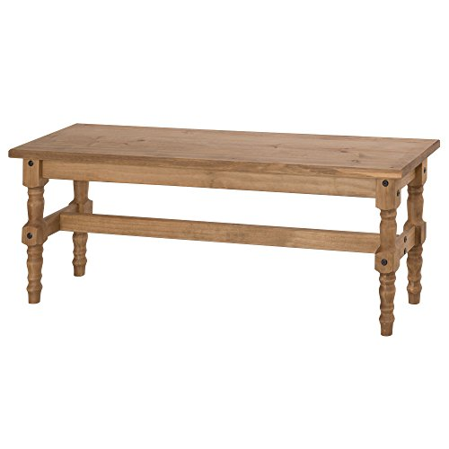Cheap Manhattan Comfort Jay Collection Traditional Wooden Dining Table Bench With Trim Finish, Wood