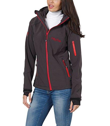 Softshell-Jacke   Funktions-Jacken für Damen von Fifty Five - Merrit anthracite/red 38 - Outdoor-Bekleidung für Freizeit, Wandern oder Camping