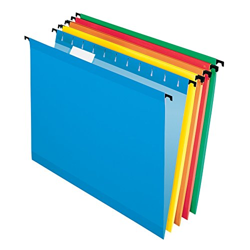 Pendaflex SureHook Reinforced Hanging Folders, Letter Size, Assorted Colors, 20 per Box (6152 1/5 ASST)