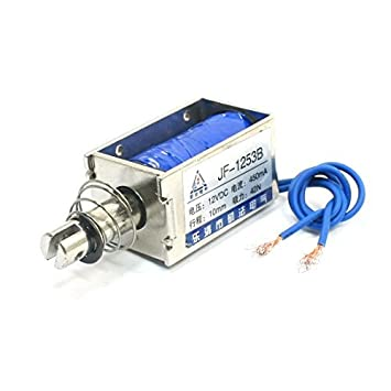Amazon.com : JF-1253B DC 12V 450mA 42N / 10mm Tipo Push Pull electroimán del solenoide : Baby