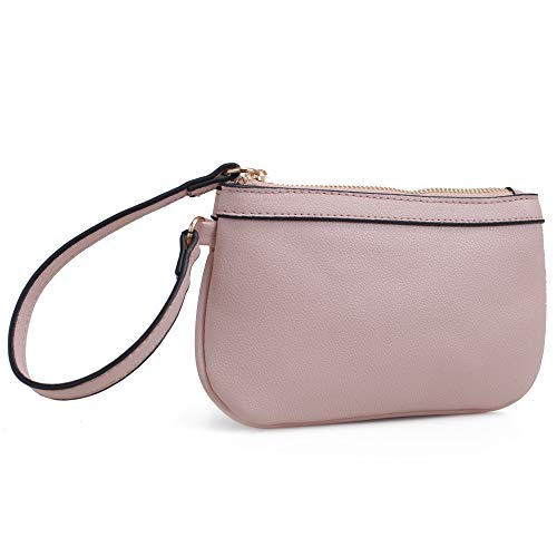 Isabelle Small Functional Zip Wristlet (Blush)