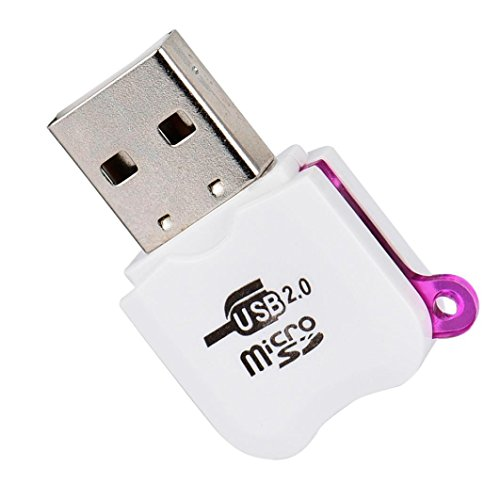 USB2.0 Micro SD TF MMC SDHC MS Memory Card Reader Purple - 9