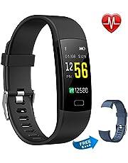 Moson Fitness Armband, Fitness Tracker Aktivitätstracker Pulsuhren Wasserdicht IP67 Schrittzähler Fitness Uhr Farbdisplay für Damen Herren und Kinder (Lila)