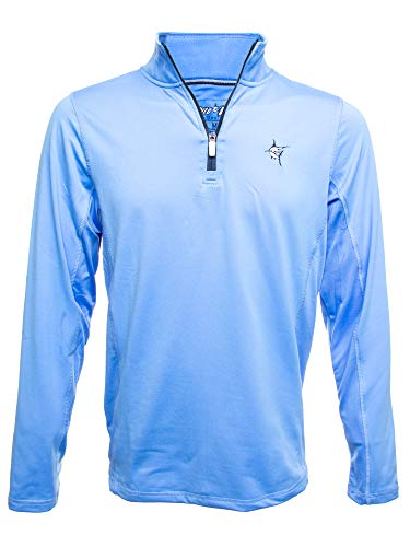 White Water Montauk Performance 1/4 Zip Pullover - Light Blue Large