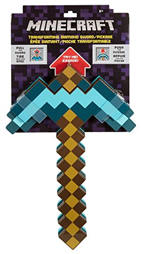 One minute it's a sword, the next it's a pickaxe! exciting two-in-one weapon has new diamond deco. It's the most exciting Minecraft weapon ever!