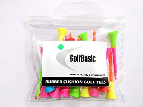 GolfBasic 80mm Rubber Cushion Golf Tees (Pack of 24 pcs) Price & Reviews
