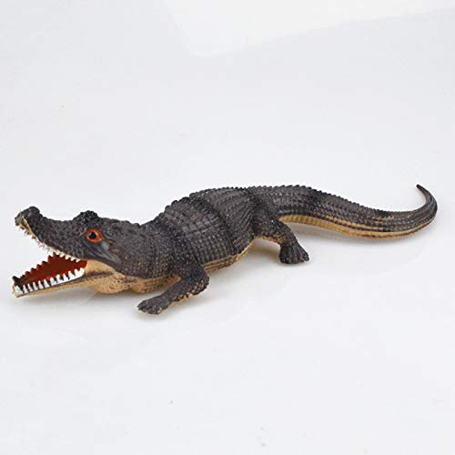 Lessonmart Halloween Realistic Crocodile Rubber Toy Safari Garden Props Joke Prank Gift About Novelty Gag Playing Jokes Toys 30 ()