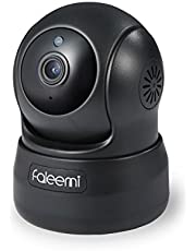Faleemi HD Pan/Tilt Wireless Network Camera, Home WiFi Security Video Surveillance Nanny Cam with Cell Phone App, 2-Way Audio, Night Vision, Motion Detection for Office/Pet/Elder/Baby Monitor FSC776B