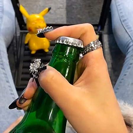 Creativo Acero Inoxidable Anillo Sacacorchos Vibrato Giratorio Cromo Cerveza Botella Abridor Cocina Bar Herramientas Inicio Gadgets|Abrebotellas
