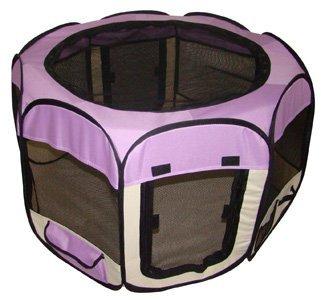 Purple Pet Dog Cat Tent Puppy Playpen Exercise Pen M by BestPet