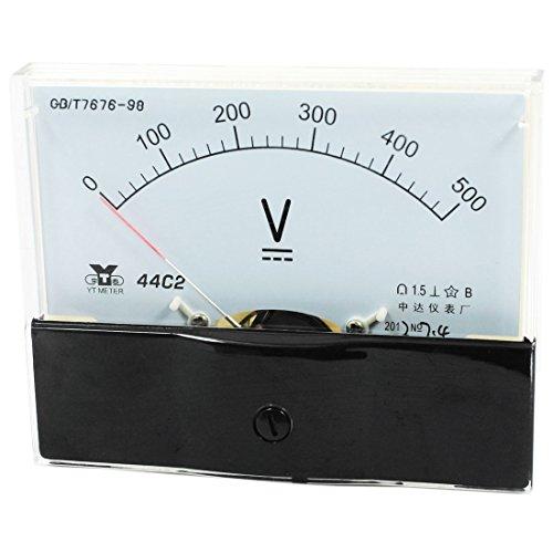 uxcell Analog Panel Voltmeter Volt Meter DC 0-500V Measuring Range 44C2