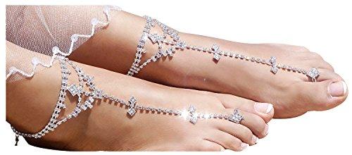 Barefoot Sandals Sparkling Crystal Rhinestone product image