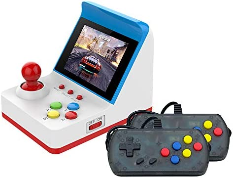 Docooler Retro Miniature Arcade Game Console Portable Handheld Game Machine 3 Screen Dual Wired Joysticks Present Gift for Kids Support AV Out