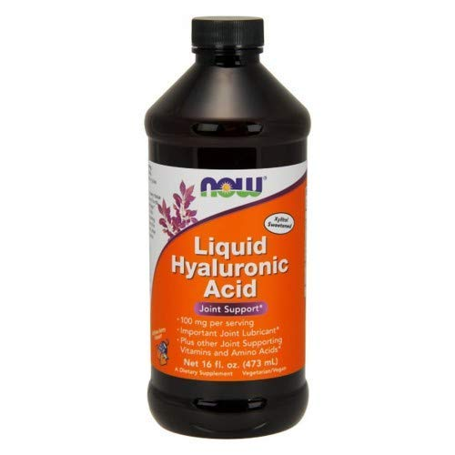 NOW Foods - Liquid Hyaluronic Acid High Potency Berry Flavor 100 mg. - 16 oz.