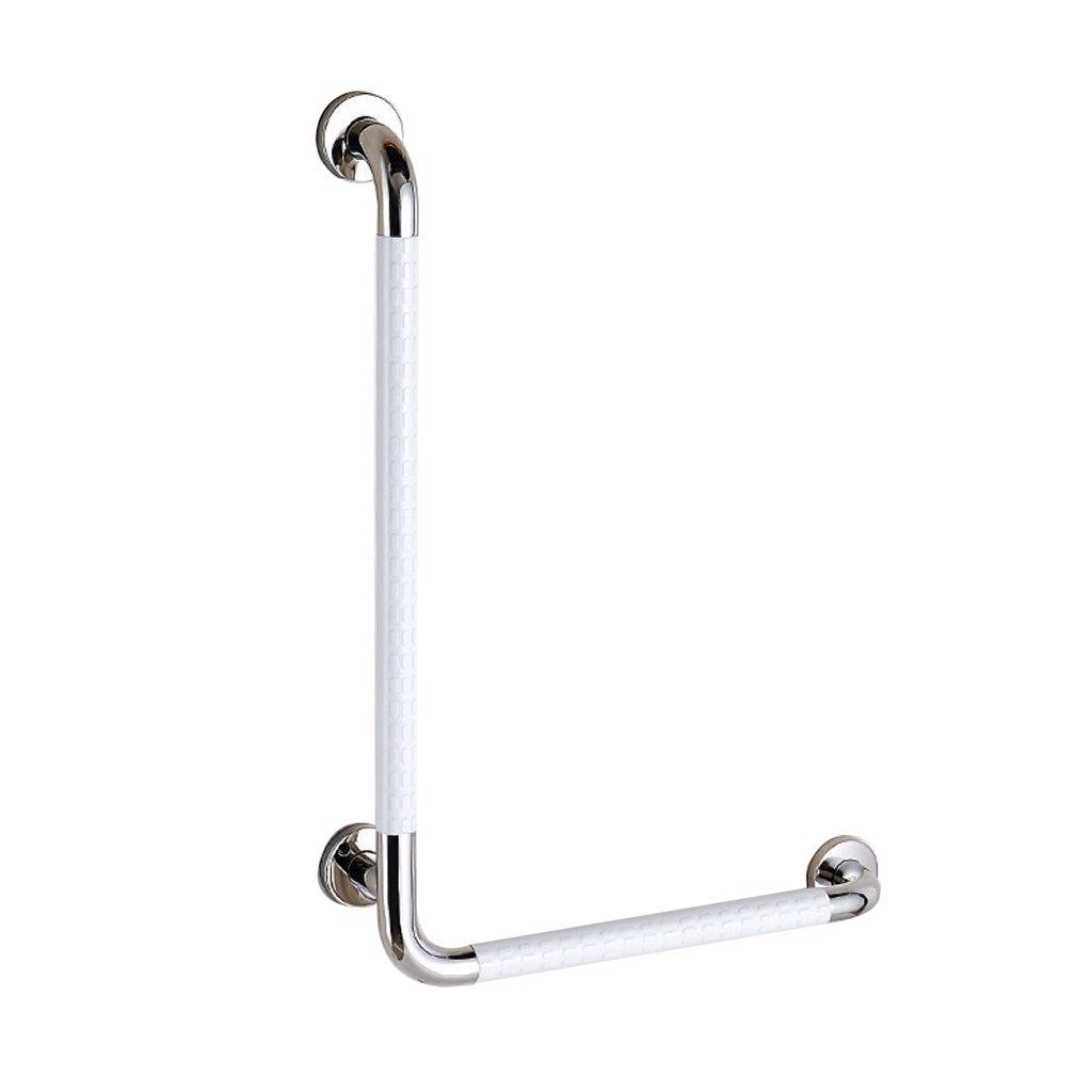 シャワーアームレストアンチスリップ浴室L字型手すりトイレシャワートイレ高齢者障害者障害者高齢者 (色 : 白, サイズ さいず : 右) B07C9625DF  白 右