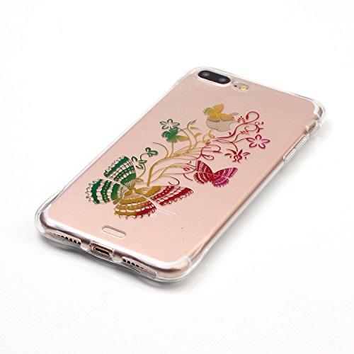inShang iphone 7 Funda Case de 4.7 [funda para iPhone de Transparente] [ 3D imagen con la tecnología de broncea], la cubierta protectora conveniente estilo nuevo case cover para el iPhone 7 10