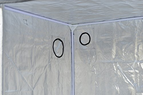 """41c39i1%2B05L - Grow Tent Indoor 8x4 Feet Not Include LED - Large Reflective Mylar Hydroponic/Hydro Waterproof Seedling Plant Growing Room for Grow Tents, Black 96""""x48""""x78"""""""