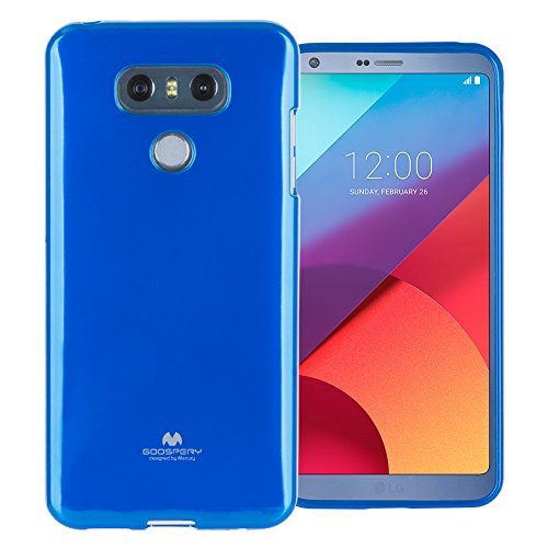 (Mercury Marlang Marlang LG G6 Case - Navy Blue/Free Screen Protector [Slim Fit] TPU Case [Flexible] Pearl Jelly [Protection] Bumper Cover for LG G6, LGG6-JEL/SP-NVY)