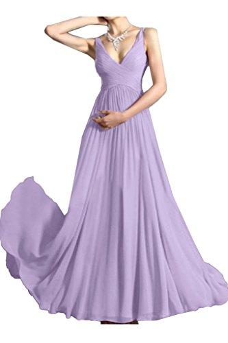 A Festkleid Ivydressing Linie Einfach Abendkleid Ausschnitt Promkleid Damen V Traeger Lavendel Partykleid rqU7zIq
