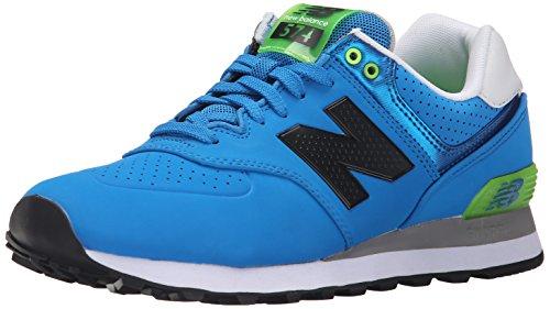 New Balance Mens Ml574 Acrilico Pack Classic Sneaker Blu / Verde