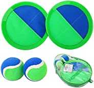 EVERICH TOY Paddle Toss and Catch Ball Set-Upgraded Version 8 Inch Paddle Catch Games Toy for Kids/Adults(2 Ra