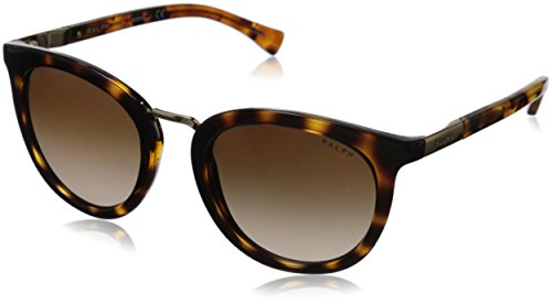 (Polo Ralph Lauren Women's 0RA5207 Round Sunglasses, Dark Tortoise & Tortoise, 52 mm)