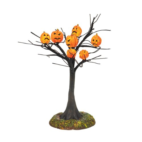 Department 56 Accessories for Villages Halloween Scary Pumpkins Lit Tree Accessory Figurine, 5.51 inch