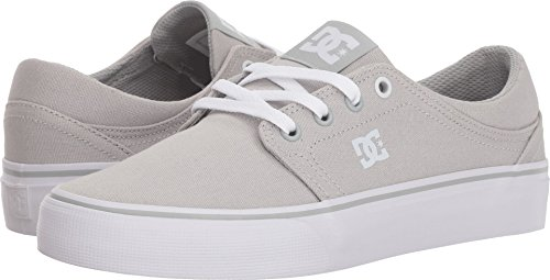 DC Women's Trase TX Skate Shoe, Grey Ash, 6.5 B B US by DC