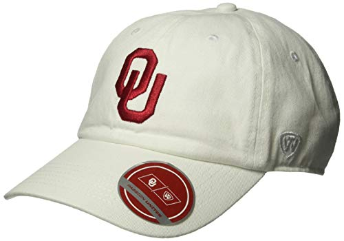 Top of the World NCAA Oklahoma Sooners Men's Adjustable Relaxed Fit White Icon Hat, White