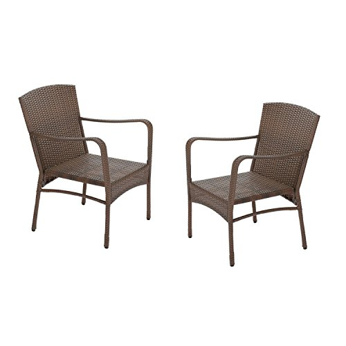 W Unlimited SW1616SET2-02 Leisure Collection Outdoor Garden Patio Furniture 2-PC Set Chair, Dark Brown