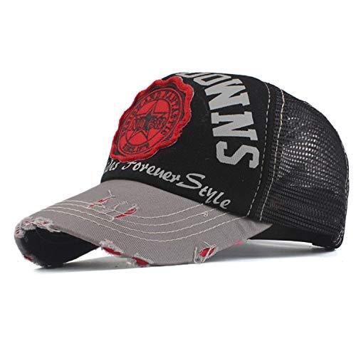 女性メッシュ 野球帽 男性 夏 帽子,ワインレッド,56TO59CM