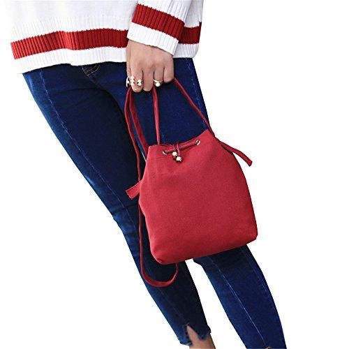 COCO clothing - Bolso bandolera Mujer Negro Negro 22 * 9 * 25 cm Rojo
