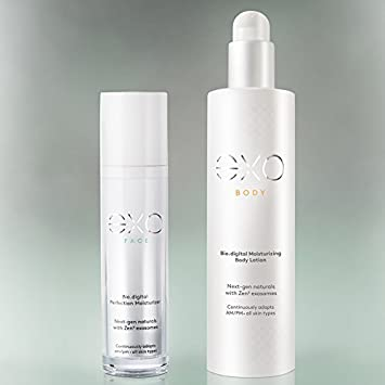 The eXO Duet – Skincare Set Natural Face and Body Anti-Aging and Firming Moisturizer by eXO Skin Simple