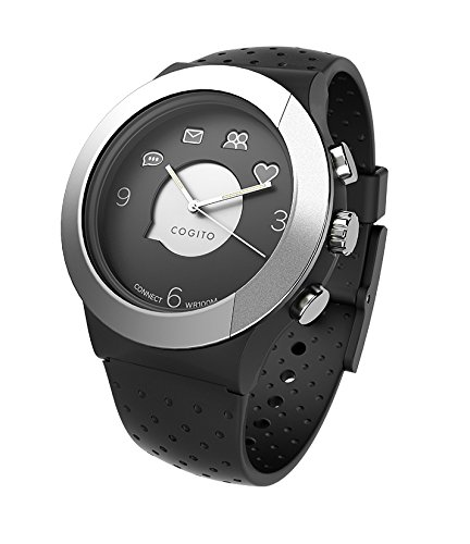 Cogito FIT - Smartwatch con Bluetooth, color negro y gris