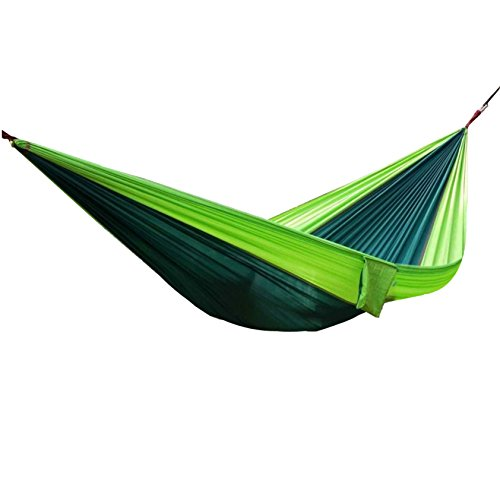 Udyr Camping Hammock, Lightweight Nylon Parachute Multifunctional Backpacking Bedroom XL Double Outdoor Floating Bed with Hanging Rope and Carabiners for Camping, Travel, Beach, Yard