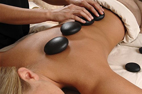 Aboval 20Pcs Professional Massage Stones Set Natural Lava Basalt Hot Stone for Spa, Massage Therapy by Aboval (Image #7)