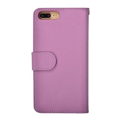 GHC Cases & Covers, Plain Weave Texture Horizontale Flip Leder Tasche mit Card Slots & Wallet & Lanyard, für iPhone 7 Plus ( Size : Ip7p7780p )