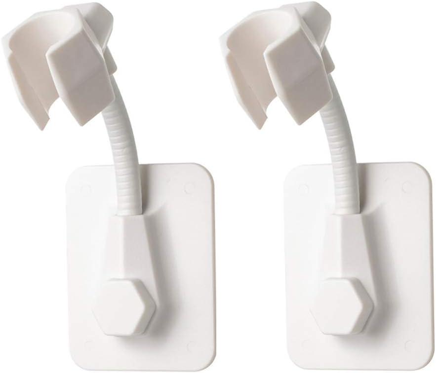 regolabili e removibili montaggio ad angolo regolabile supporto per doccetta ventosa per il bagno 2 supporti per doccetta senza chiodi