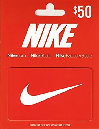 Amazon Com Nike 50 Gift Card Gift Cards
