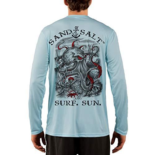 SAND.SALT.SURF.SUN. Octopus Treasure Mens UPF 50+ Long Sleeve T-Shirt