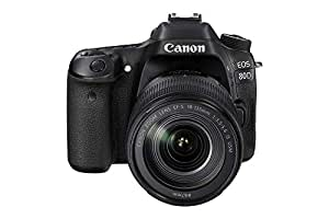 Canon EOS 80D 18-135mm IS USM Lens Kit - 24.2 MP, SLR Camera, Black