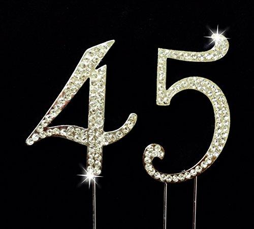 45 number cake topper - 2
