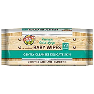 Earth's Best TenderCare Unscented Chlorine-Free Baby Wipes, 72 Count (Pack of 12) (Packaging May Vary)