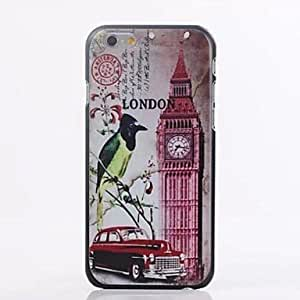 QHY European Architectural Style Pattern Plastic Cover for iPhone 6 Plus